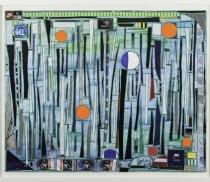 GERAÇÃO 80_LEDA CATUNDA - Quatro Sóis - Colagem - 71 x 89 cm - 2014(1)